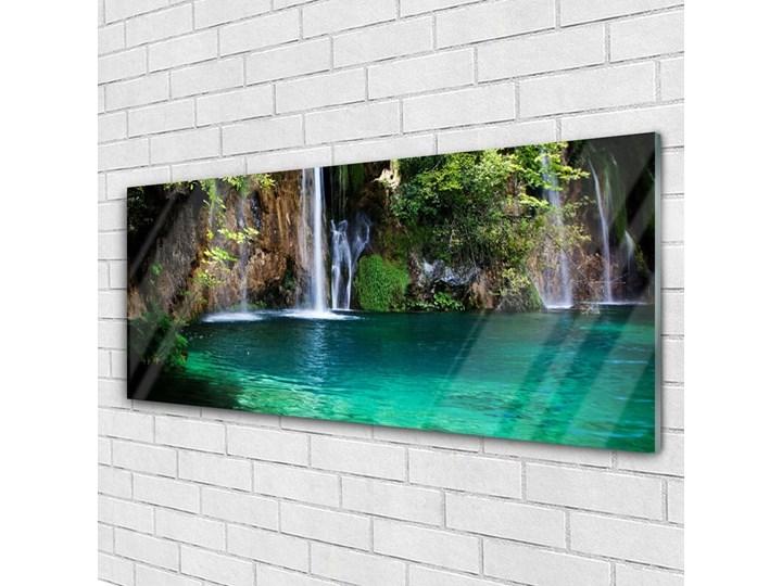 Obraz na Szkle Jezioro Wodospad Natura Wymiary 50x125 cm Wymiary 50x100 cm