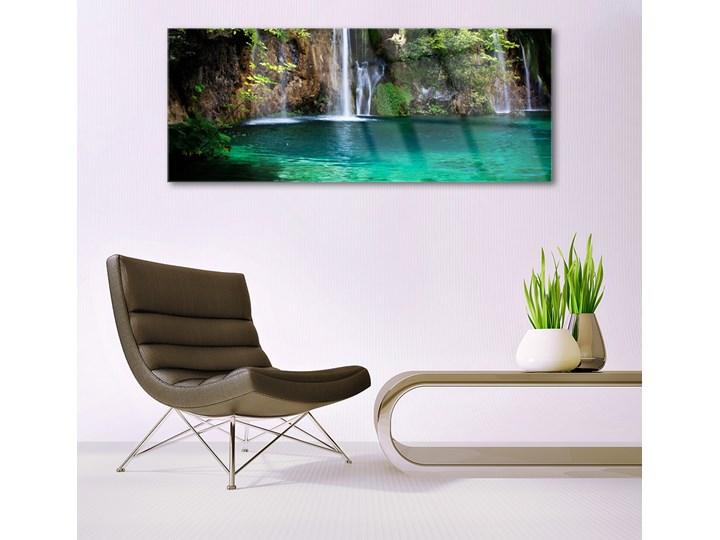 Obraz na Szkle Jezioro Wodospad Natura Pomieszczenie Przedpokój