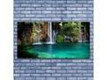 Obraz na Szkle Jezioro Wodospad Natura Kategoria Obrazy