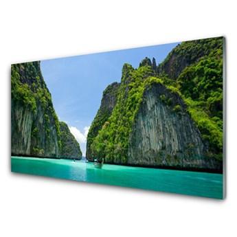 Obraz Szklany Góry Woda Zatoka Krajobraz