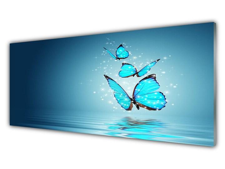 Obraz Szklany Niebieski Motyle Woda Sztuka Kategoria Obrazy Pomieszczenie Salon