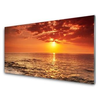 Obraz Szklany Morze Słońce Krajobraz
