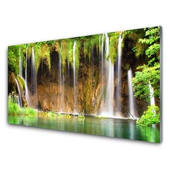 Obraz Szklany Wodospad Jezioro Przyroda