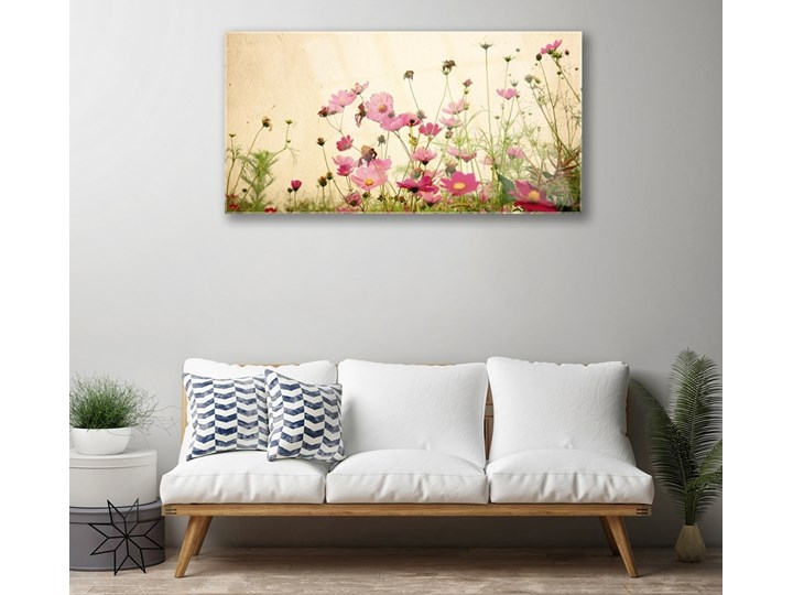Obraz Szklany Kwiaty Roślina Natura Wymiary 50x125 cm Pomieszczenie Salon