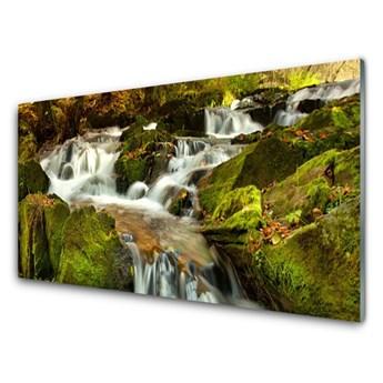 Obraz Szklany Wodospad Skały Nature