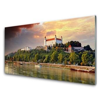 Obraz Szklany Miasto Jezioro Krajobraz