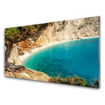 Obraz Szklany Zatoka Morze Skały Plaża