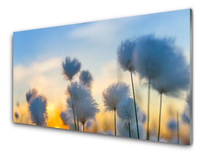 Obraz Szklany Kwiaty Roślina Natura Pomieszczenie Salon Wymiary 50x100 cm