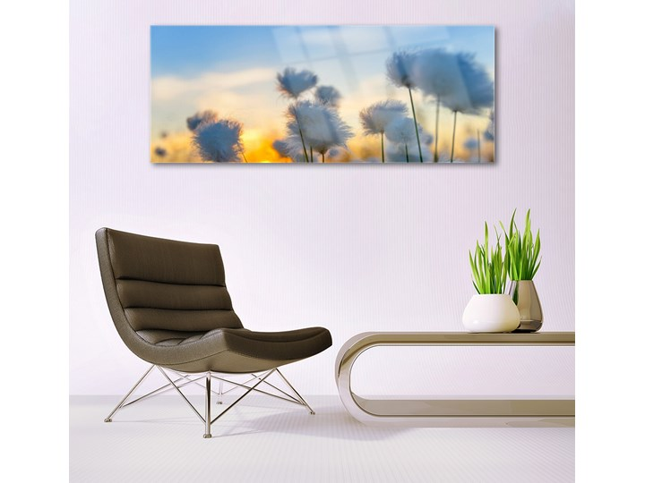 Obraz Szklany Kwiaty Roślina Natura Wymiary 60x120 cm
