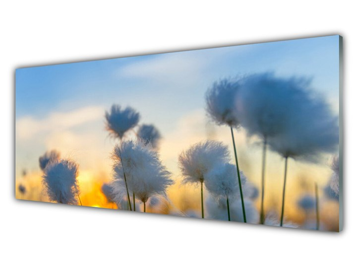 Obraz Szklany Kwiaty Roślina Natura Wymiary 50x125 cm