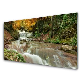 Obraz Szklany Wodospad Las Przyroda