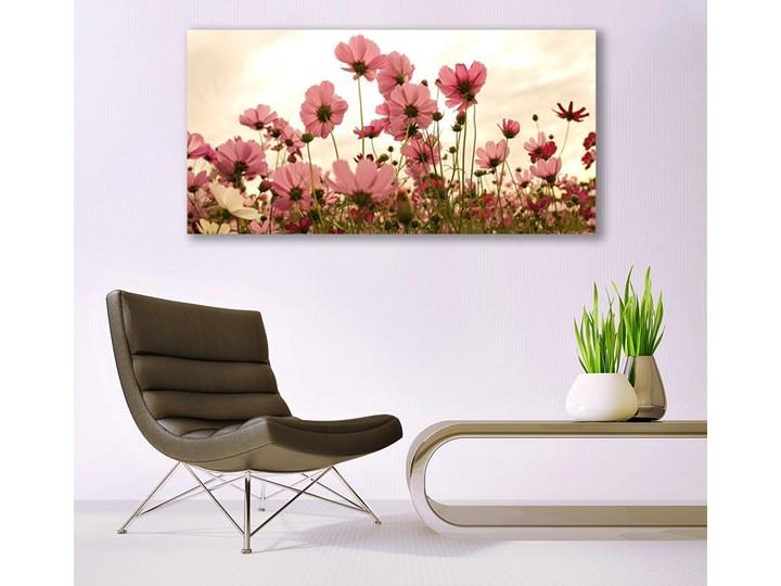 Obraz Szklany Kwiaty Polne Łąka Natura Wymiary 70x140 cm
