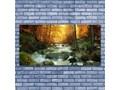 Obraz Szklany Wodospad Natura Las Jesień Kategoria Obrazy