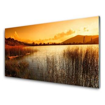 Obraz Szklany Jezioro Krajobraz Zachód