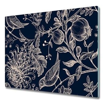 Deska kuchenna Kwiaty i ptaki