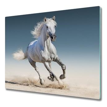 Deska do krojenia Biały koń w galopie