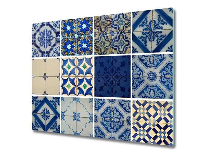 Deska do krojenia Portugalskie kafle Prostokątny Szkło Kategoria Deski kuchenne Kolor Szary