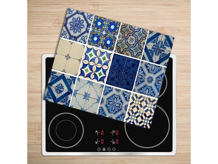 Deska do krojenia Portugalskie kafle Szkło Prostokątny Kolor Szary Kategoria Deski kuchenne
