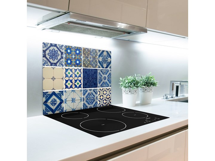 Deska do krojenia Portugalskie kafle Kolor Szary Prostokątny Szkło Kategoria Deski kuchenne