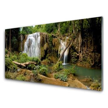 Obraz Akrylowy Wodospad Rzeka Las Natura