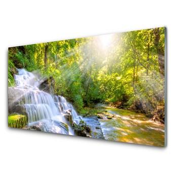 Obraz Akrylowy Wodospad Las Natura