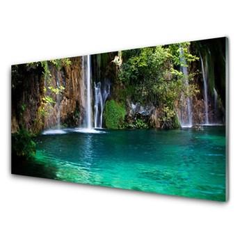 Obraz Akrylowy Jezioro Wodospad Natura