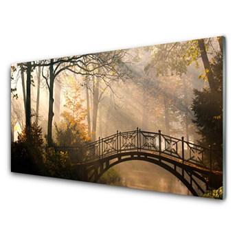 Obraz Akrylowy Las Most Architektura