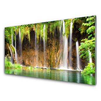 Obraz Akrylowy Wodospad Jezioro Przyroda