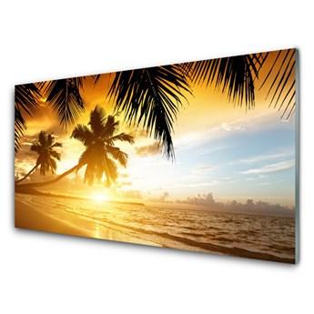 Obraz Akrylowy Plaża Palma Morze Krajobraz
