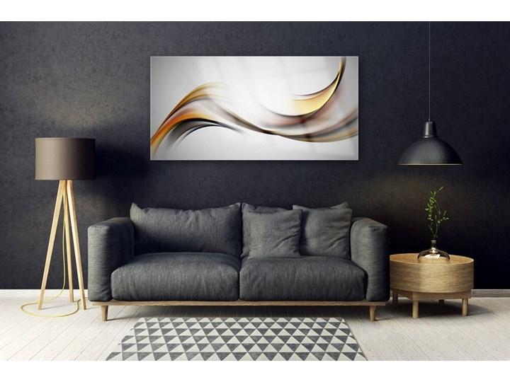 Obraz Akrylowy Abstrakcja Grafika Kolor Pomarańczowy Wzór Natura