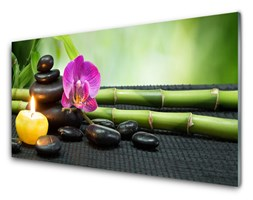 Obraz Akrylowy Bambus Kwiat Zen Spa