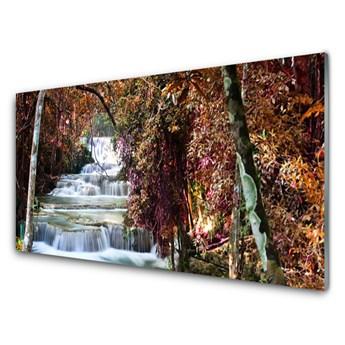 Obraz Akrylowy Wodospad Las Przyroda