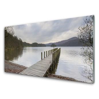 Obraz Akrylowy Jezioro Architektura Most