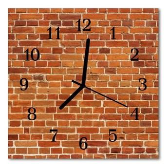 Zegar ścienny kwadrat Mur z cegły