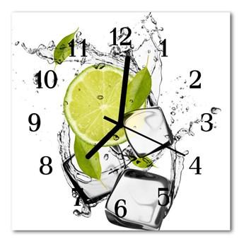 Zegar ścienny kwadrat Limonka