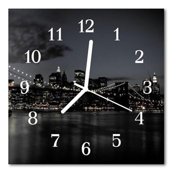 Zegar ścienny kwadrat Most miasto