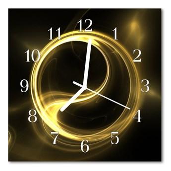 Zegar ścienny kwadrat Abstrakcja koło