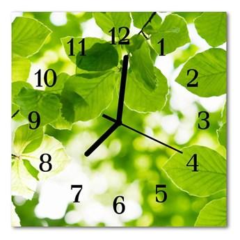 Zegar ścienny kwadrat Listowie