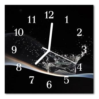 Zegar ścienny kwadrat Woda