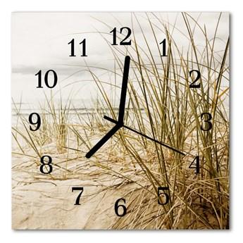 Zegar ścienny kwadrat Trawa plażowa