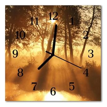 Zegar ścienny kwadrat Mgła drzewa