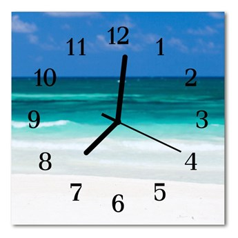Zegar ścienny kwadrat Morze na plaży