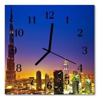 Zegar ścienny kwadrat Dubai