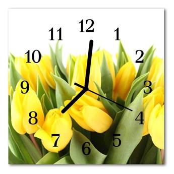 Zegar ścienny kwadrat Tulipany