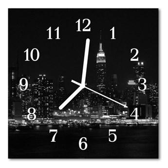 Zegar ścienny kwadrat Miasto budynki