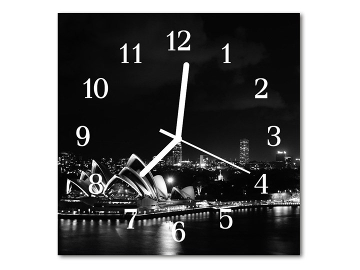 Zegar ścienny kwadrat Sydney Kwadratowy Szkło Pomieszczenie Salon