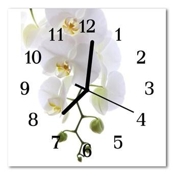 Zegar ścienny kwadrat Storczyk