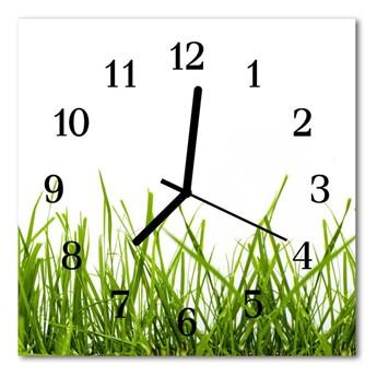 Zegar ścienny kwadrat Trawa