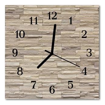 Zegar ścienny kwadrat Cegła
