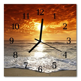 Zegar ścienny kwadrat Morze Plaża